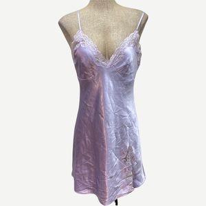DUNNES STORES Purple Satin Nightie 10-12